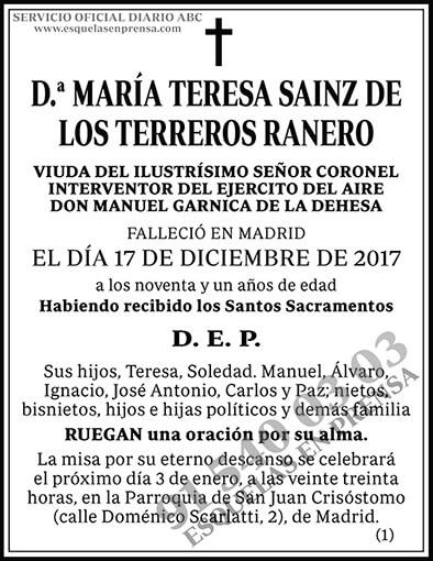 María Teresa Sainz de Los Terreros Ranero